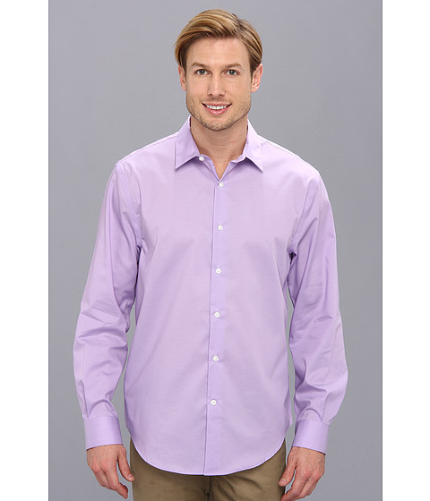 Perry Ellis - Long Sleeve Twill Non Iron Shirt (Crocus) Men's Long Sleeve Button Up