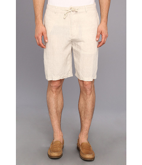 Perry Ellis - Linen Drawstring Short (Natural Linen) Men