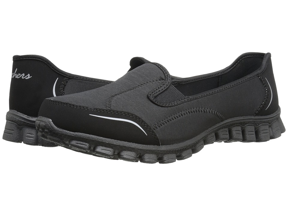 SKECHERS - Encounter (Black) Women's Slip on Shoes