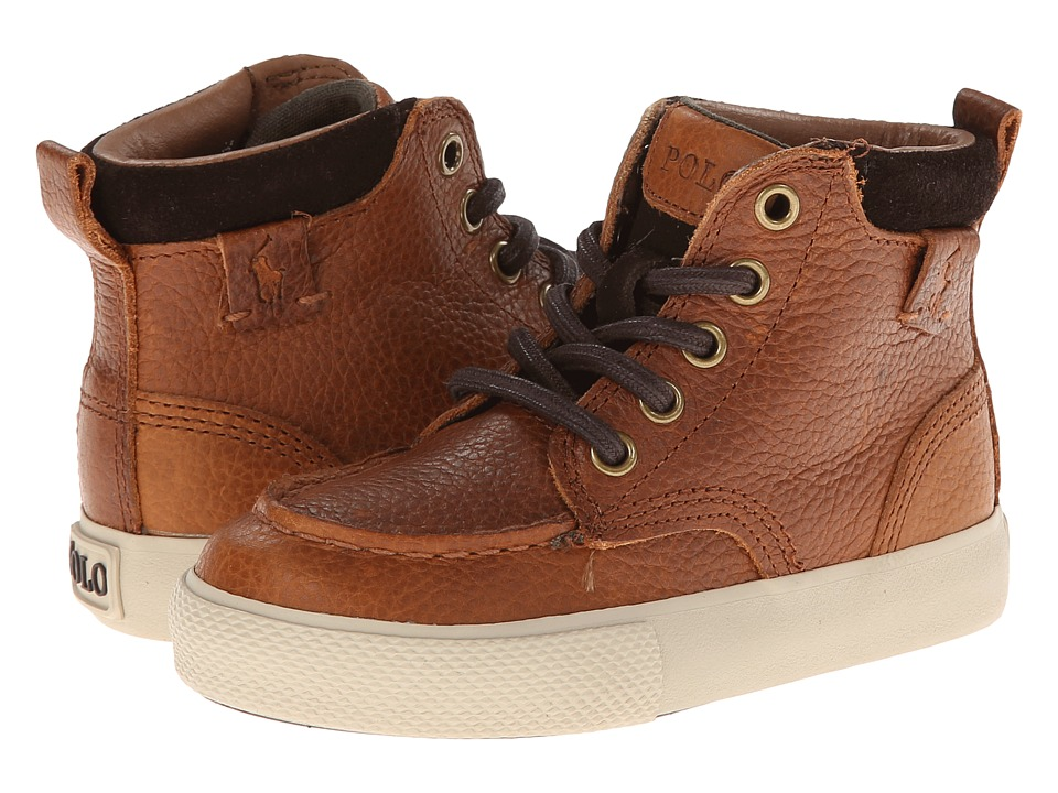 Polo Ralph Lauren Kids - Ted FT14 (Toddler) (Brown Leather) Boys Shoes