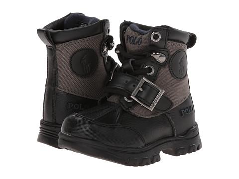 Polo Ralph Lauren Kids - Colbey Boot FT14 (Toddler) (Black/Slate Grey Nylon) Boys Shoes