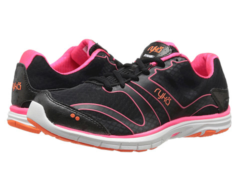 Ryka - Dynamic (Black/Coral Rose/Atomic Orange 1) Women's Cross Training Shoes