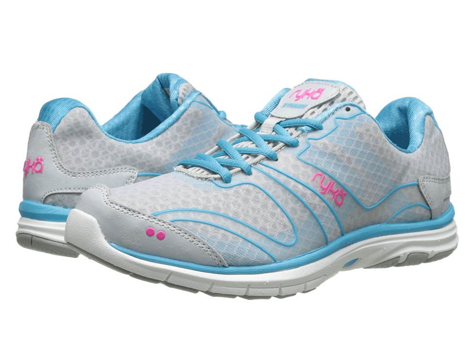 Ryka - Dynamic (Cool Mist Grey/Detox Blue/Athena Pink 1) Women's Cross Training Shoes