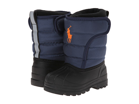 Polo Ralph Lauren Kids - Hamilten EZ FT14 (Toddler) (Navy Nylon/Orange) Boys Shoes