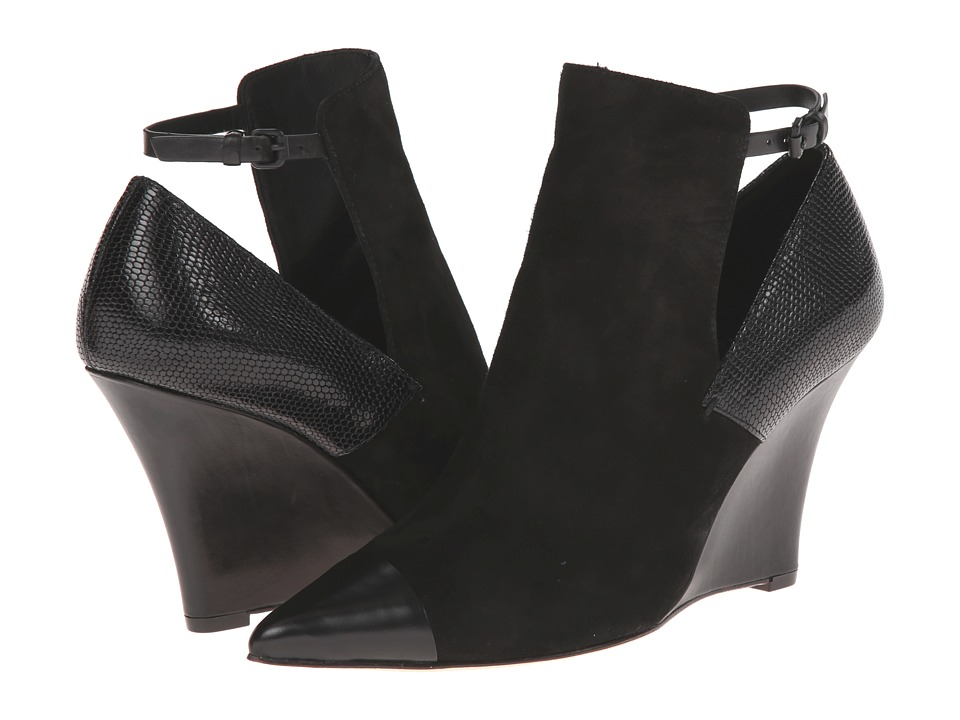 Elie Tahari - Zaire (Black/Black/Black) Women's Wedge Shoes