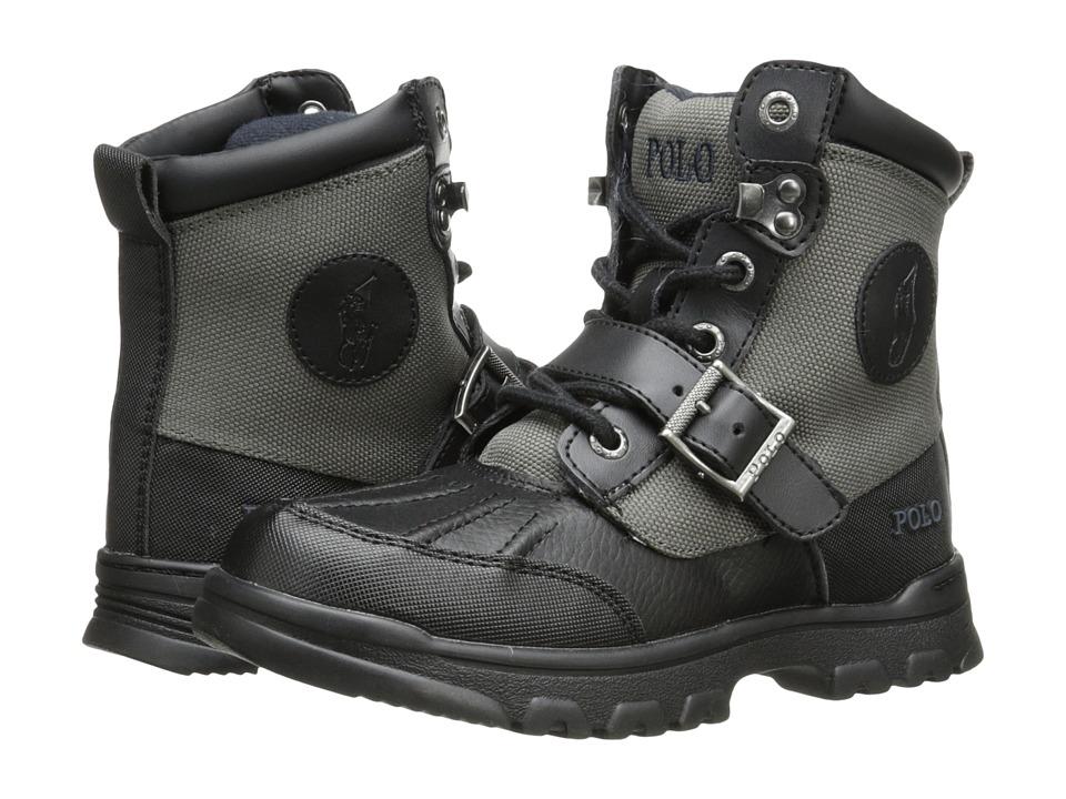 Polo Ralph Lauren Kids - Colbey Boot FT14 (Little Kid) (Black/Slate Grey Nylon) Boys Shoes