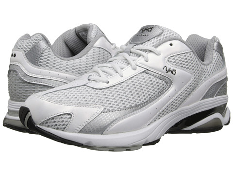Ryka - Radiant (White/Chrome Silver/Black) Women