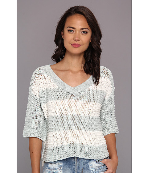 Free People - Parkslope Stripe (Mint Ivory Combo) Women's Sweater