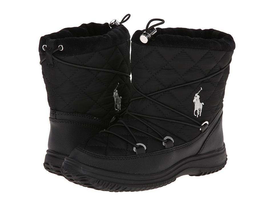 Polo Ralph Lauren Kids - Orao FT14 (Little Kid) (Black Nylon) Girls Shoes