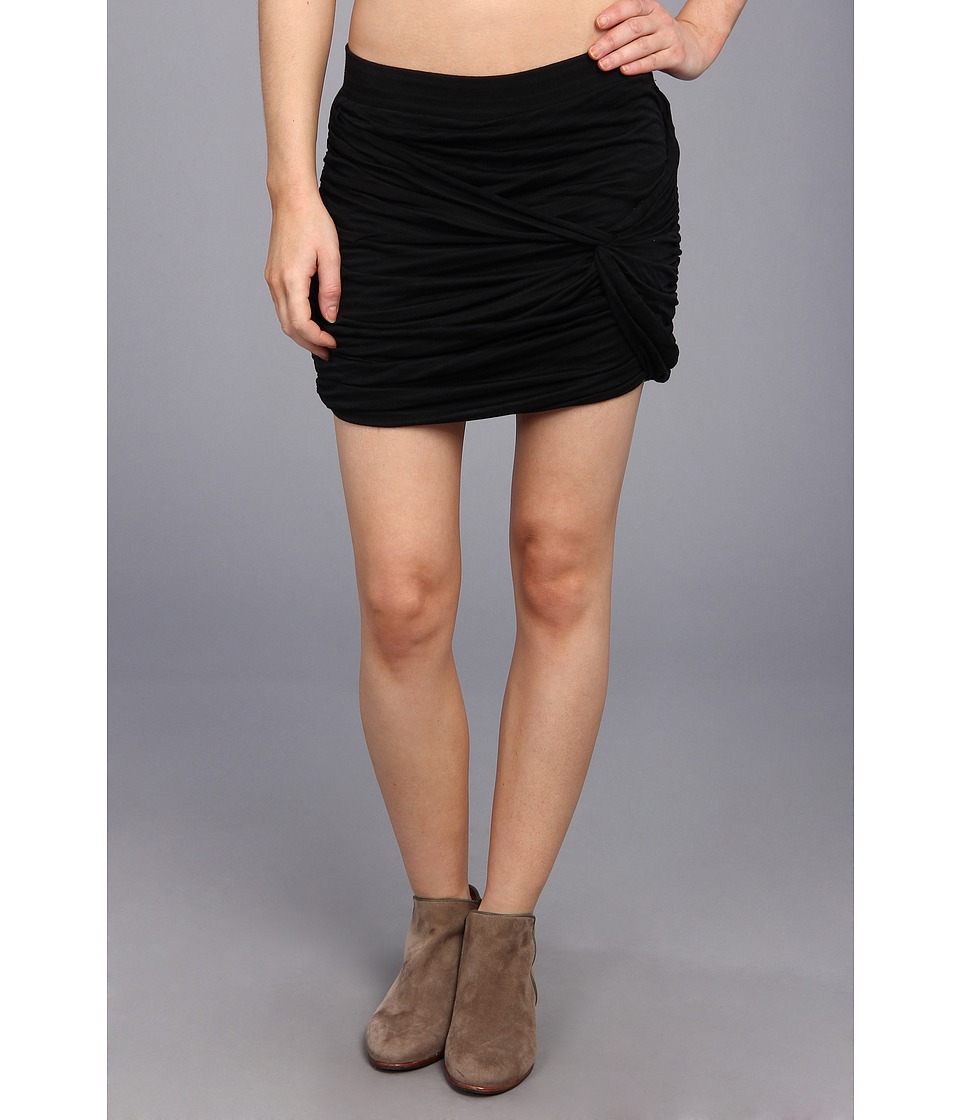 Free People - Twistful Mini Skirt (Black) Women's Skirt