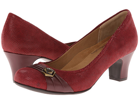 Softspots - Tabia (Claret Red/Jewel Red Santos Suede/Velvet Sheep Nappa) High Heels
