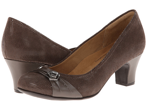 Softspots - Tabia (Ash Grey/Taupe Grey Santos Suede/Velvet Sheep Nappa) High Heels