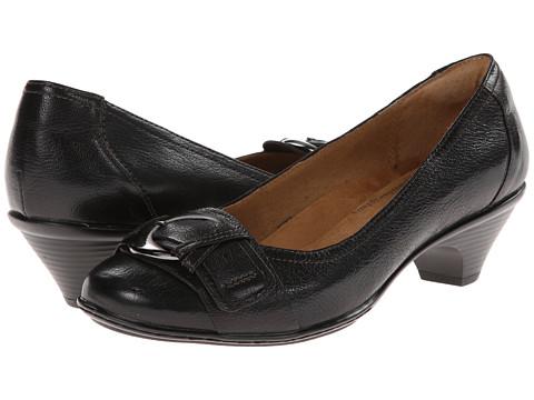 Softspots - Sarah (Black/Black Goat Mustang/Goat Mustang) Women's Slip on Shoes