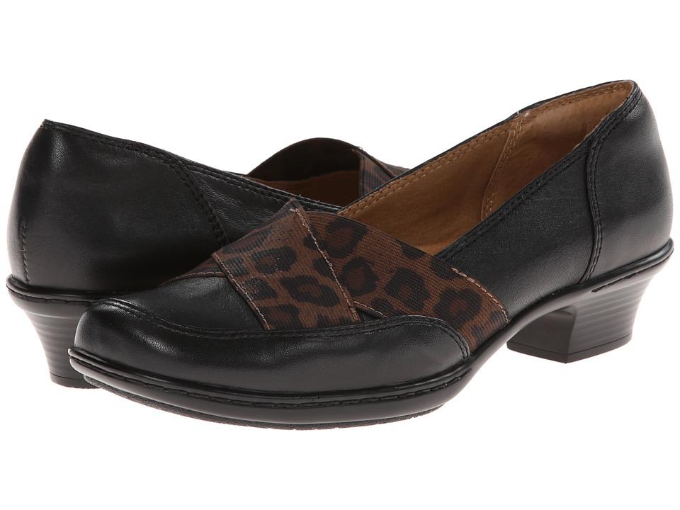 Comfortiva - Scarlet (Black/Leopard Elastic Velvet Sheep Nappa) Women's 1-2 inch heel Shoes