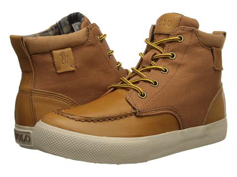 Polo Ralph Lauren Kids - Ted FT14 (Big Kid) (Tan Burnished/Tan Nylon) Boys Shoes