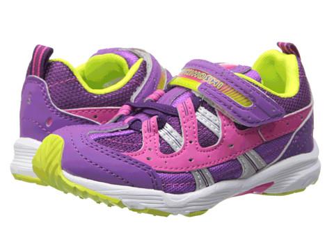 Tsukihoshi Kids - Speed (Toddler/Little Kid) (Purple/Lime) Girls Shoes
