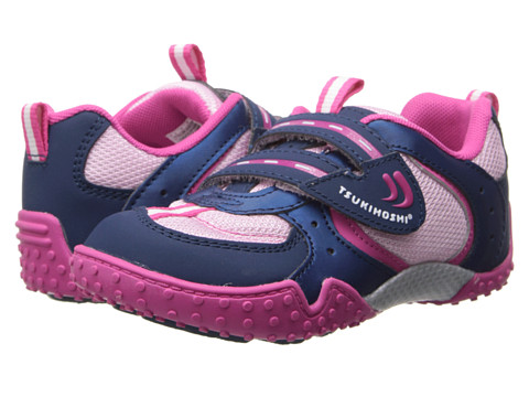 Tsukihoshi Kids - Wheel (Toddler/Little Kid) (Navy/Pink) Girls Shoes