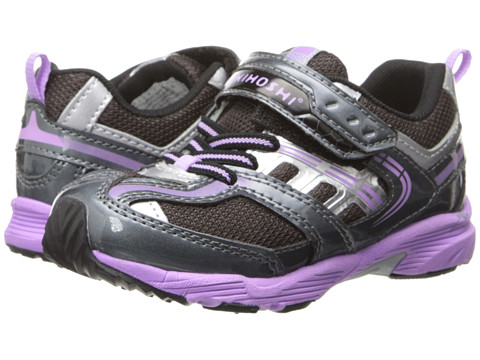 Tsukihoshi Kids - Sprint (Toddler/Little Kid) (Graphite/Lavender) Girls Shoes