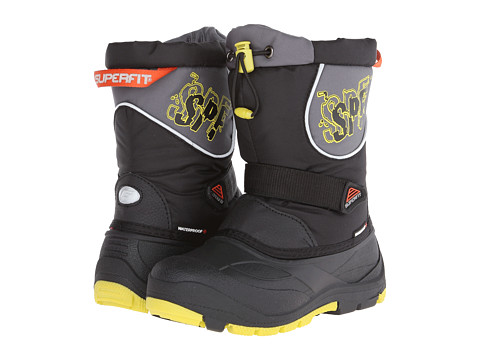 Superfit - Magik (Toddler/Little Kid) (Black/Neon Citrus/Tomato) Boy