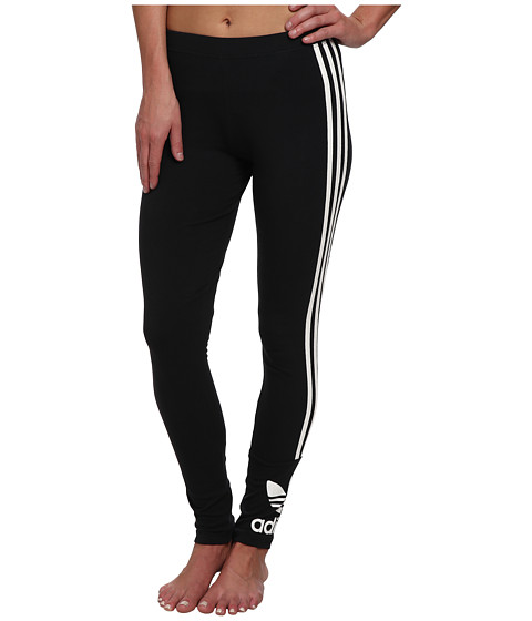 adidas Originals - Trefoil Leggings (Black/White) Women