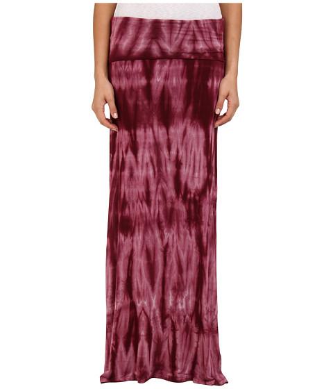 Apparel-Roxy Star Crossed Maxi Skirt (Grape Wine Tie Dye) Women's Skirt