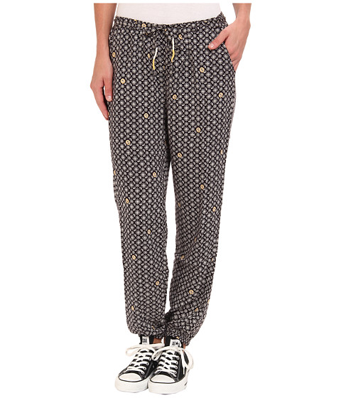 Roxy - Midnight Rambler Harem Pant (Anna True Black Print) Women's Casual Pants
