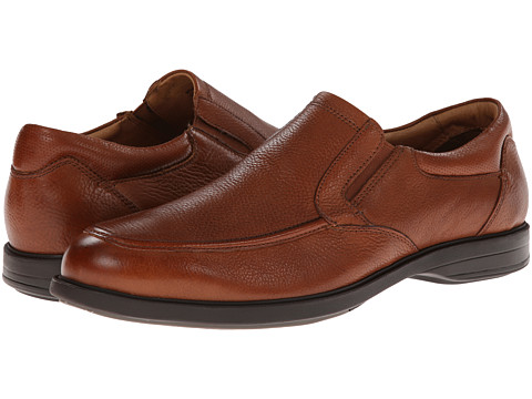 Florsheim - Vantage Moc Toe Slip-On (Cognac Milled) Men