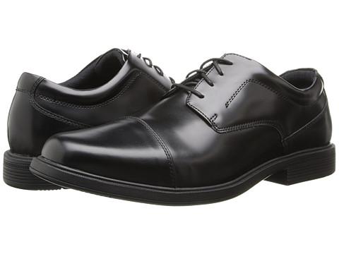 Nunn Bush - Montclair (Black) Men's Lace Up Cap Toe Shoes