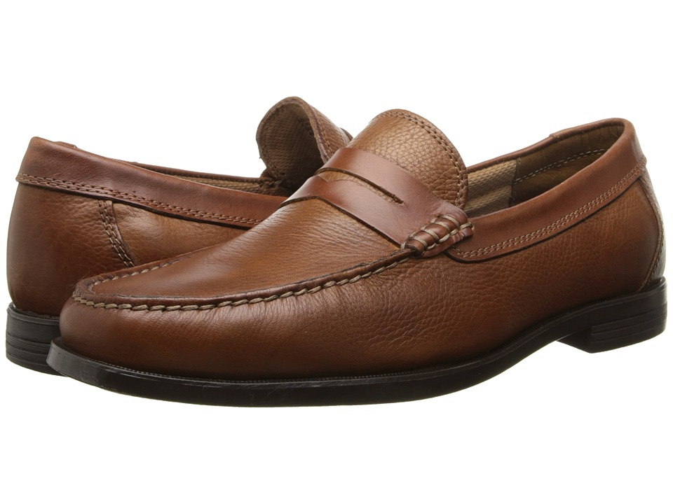 Florsheim - Cricket Penny (Cognac Milled) Men's Slip-on Dress Shoes