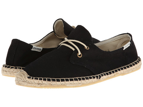 Soludos - Derby Lace Up Canvas (Canvas Black) Women