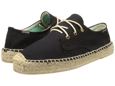 Soludos - Platform Derby Lace Up Canvas (Canvas Black) Women's Shoes