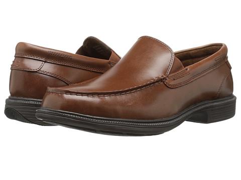 Nunn Bush - Beacon St Moc Toe Oxford (Cognac) Men's Slip-on Dress Shoes
