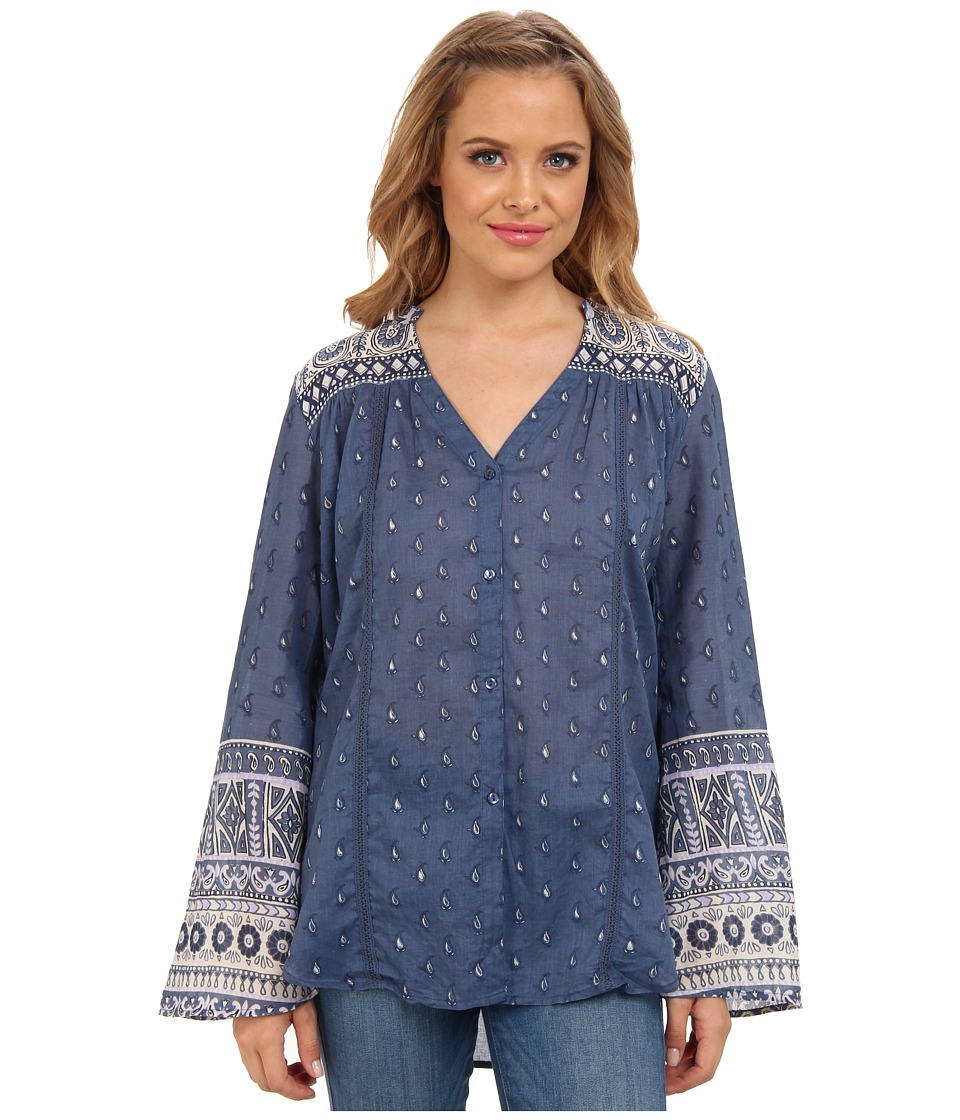 Billabong - Talk Again Blouse (Peacoat) Women's Blouse