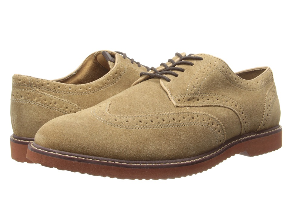 Nunn Bush - DePere Wing Tip Oxford Lace-Up (Sand Smooth) Men's Lace Up Wing Tip Shoes