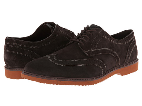 Nunn Bush - DePere Wing Tip Oxford Lace-Up (Brown Suede) Men's Lace Up Wing Tip Shoes