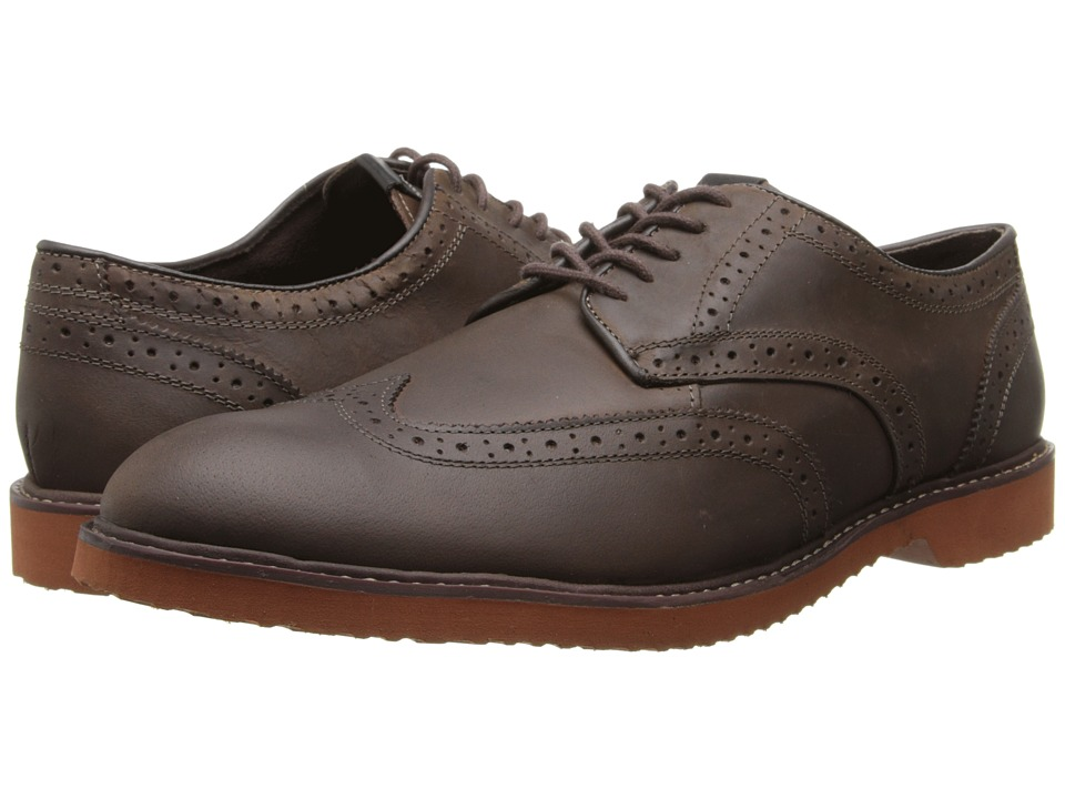 Nunn Bush - DePere Wing Tip Oxford Lace-Up (Brown Smooth) Men's Lace Up Wing Tip Shoes