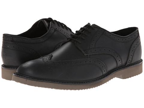 Nunn Bush - DePere Wing Tip Oxford Lace-Up (Black) Men