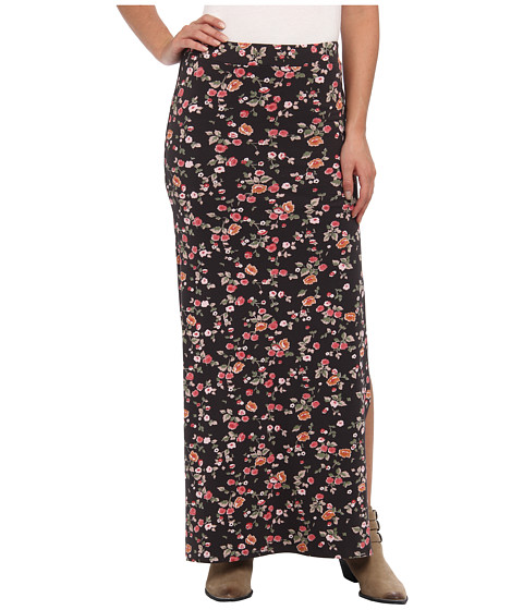Billabong - Glass Petals Maxi Skirt (Off Black) Women
