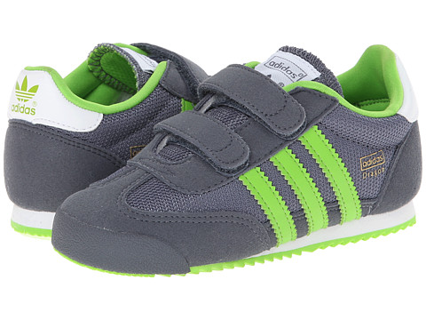 adidas Originals Kids - Dragon Cmf Inf (Toddler) (Onix/Semi Solar Green/Core White) Boys Shoes
