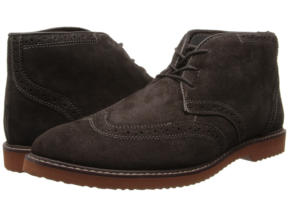 Nunn Bush - Dodge Wing Tip Chukka Boot (Brown Suede) Men's Boots
