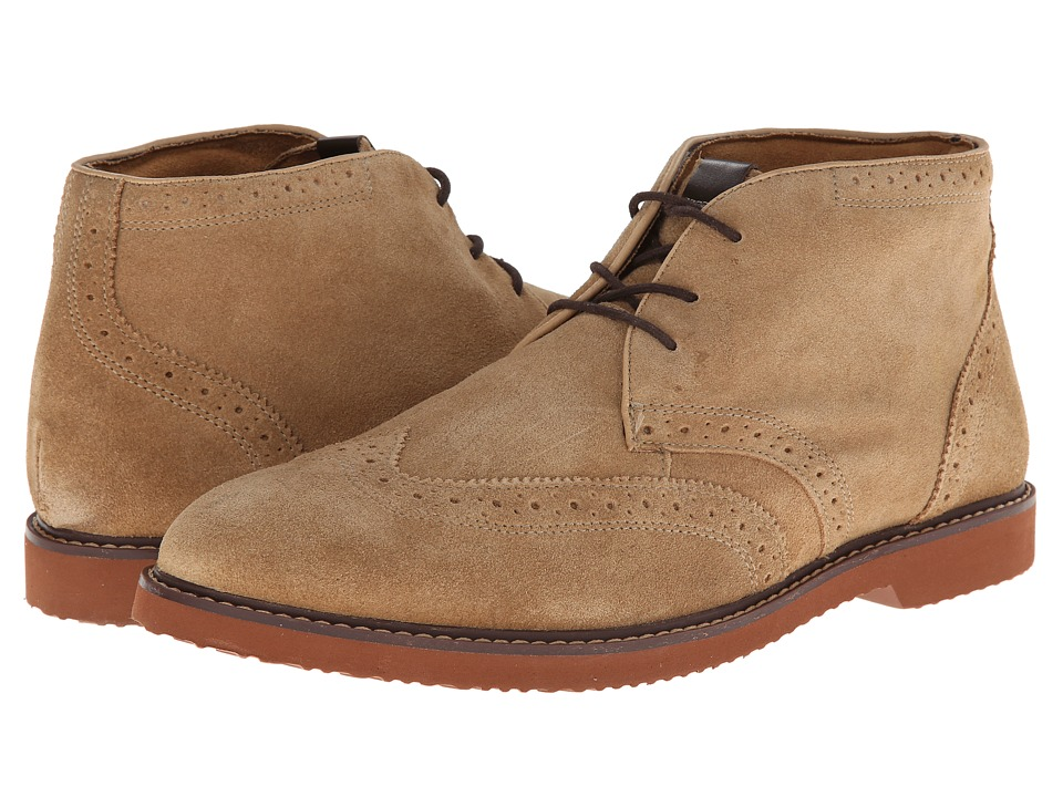 Nunn Bush Dodge Wing Tip Chukka Boot (Sand Suede) Men