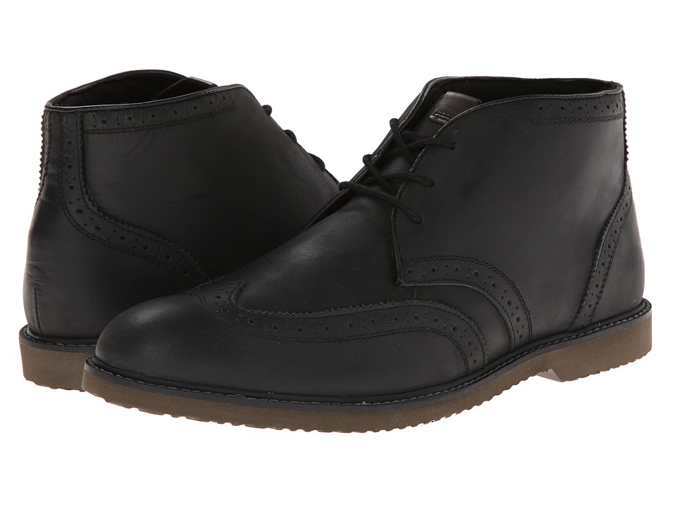 Nunn Bush Dodge Wing Tip Chukka Boot (Black Smooth) Men