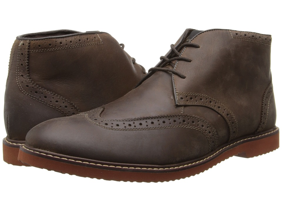 Nunn Bush Dodge Wing Tip Chukka Boot (Brown Smooth) Men