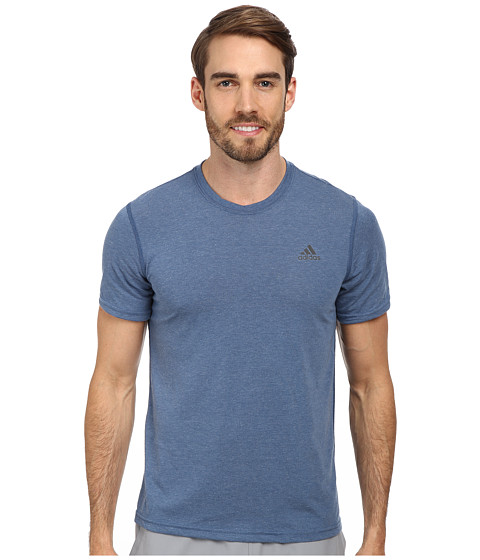 adidas - CLIMA Ultimate Tee (Vista Blue heather/DGH Solid Grey) Men