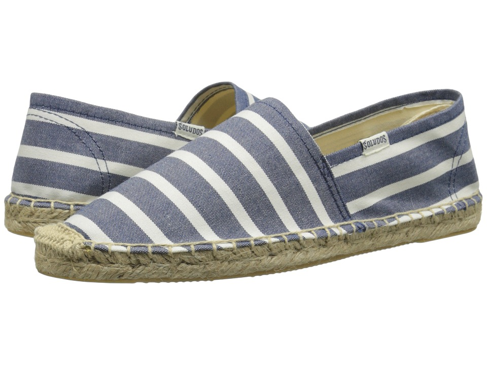 Soludos - Original Classic Stripes: Breton Inspired Chic (Classic Stripe Light Navy/White) Women