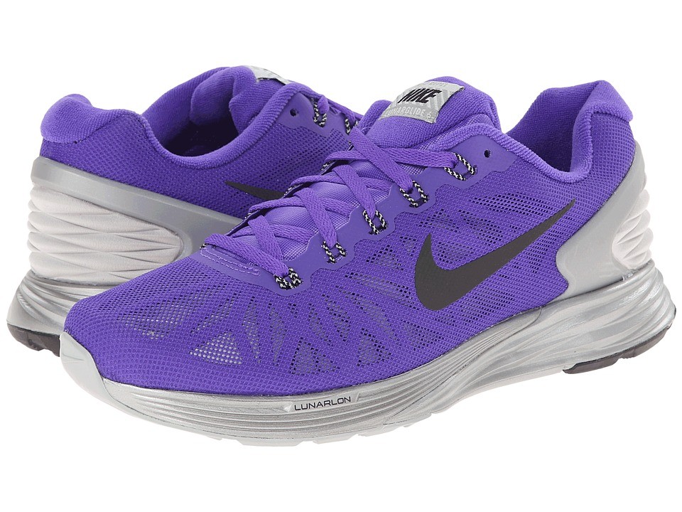 Nike - Lunar Glide Flash (Hyper Grape/Black/Reflective Silver) Women's Running Shoes