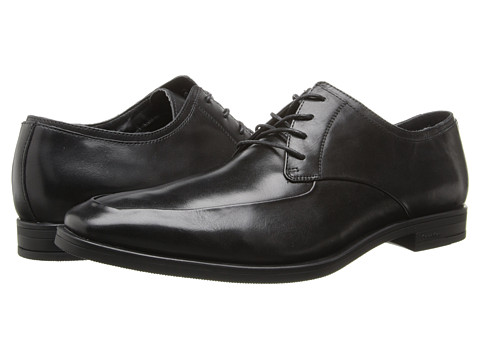 Calvin Klein - Carlow (Black Leather) Men's Lace Up Moc Toe Shoes