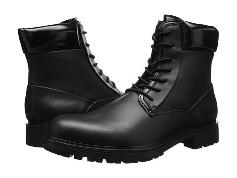 Calvin Klein - Oakes (Black Leather) Men's Lace-up Boots