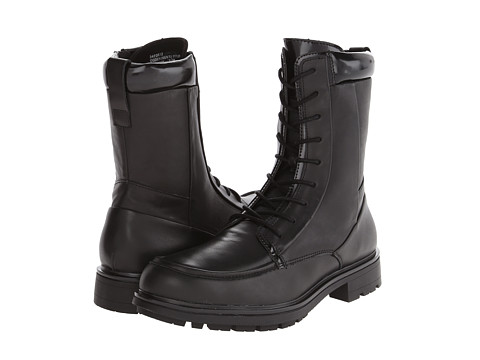 Calvin Klein Ogden (Black Leather) Men's Boots