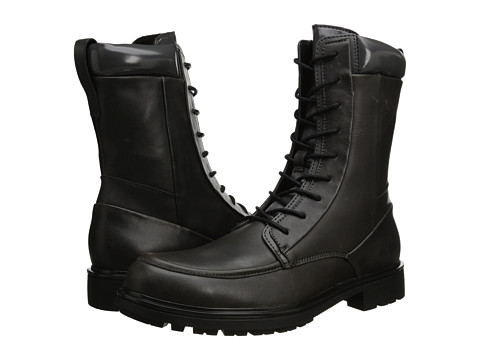 Calvin Klein Ogden (Dark Charcoal Leather) Men's Boots